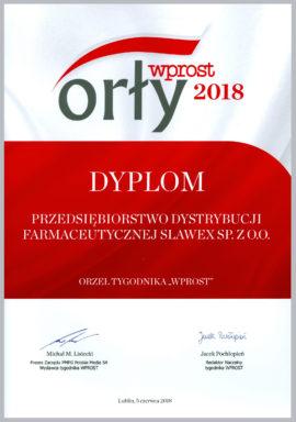 "SLAWEX Laureatem nagrody ""Orły Wprost"""